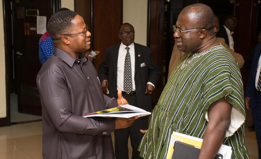 Dr. Aubynn with Hon. Minister